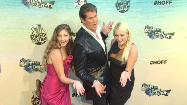 taylor ann hasselhoff, david hasselhoff, hayley amber hasselhoff at the the comedy central roast of david hasselhoff at culver city ca. - david hasselhoff stock videos & royalty-free footage