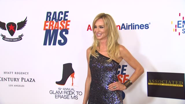 vídeos de stock e filmes b-roll de taylor armstrong at 19th annual race to erase glam rock to erase on 5/18/12 in los angeles, ca. - race to erase ms