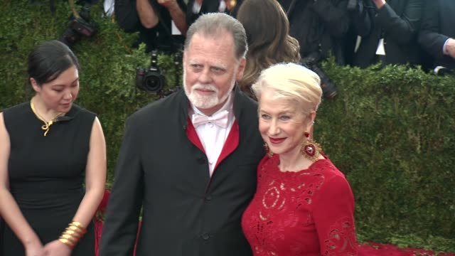 Taylor Hackford and Helen Mirren at China Through The Looking Glass Costume Institute Benefit Gala Arrivals at Metropolitan Museum of Art on May 04...