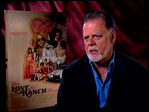 taylor hackford on directing the film's love scene. at the 'love ranch' junket at los angeles ca. - directing stock videos & royalty-free footage