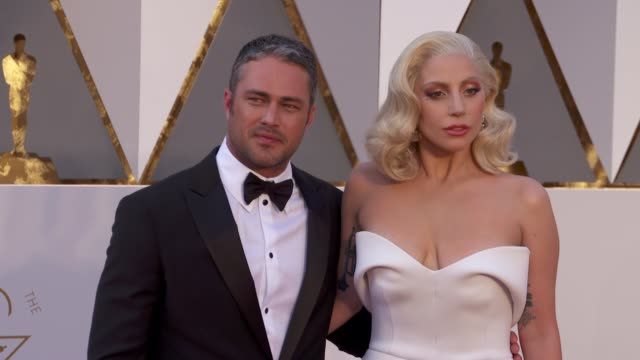 Taylor Kinney and Lady Gaga at 88th Annual Academy Awards Arrivals at Hollywood Highland Center on February 28 2016 in Hollywood California 4K
