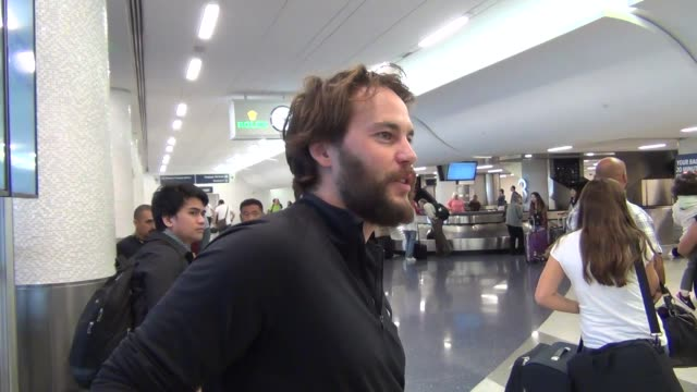 Taylor Kitsch at Los Angeles International Airport at Celebrity Sightings in Los Angeles on October 16 2015 in Los Angeles California