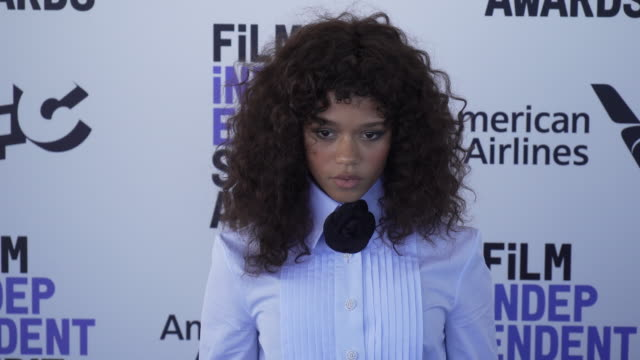 taylor russell at the 2020 film independent spirit awards on february 08, 2020 in santa monica, california. - film independent spirit awards stock videos & royalty-free footage