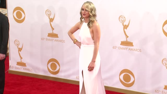 taylor schilling at the 65th annual primetime emmy awards arrivals in los angeles ca on 9/22/13 - annual primetime emmy awards stock-videos und b-roll-filmmaterial