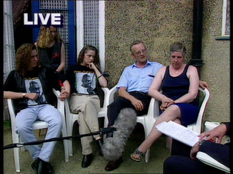 london taylor family in garden cms anne taylor intvwd sot its hard to express how we feel cms derek taylor intvwd as michelle and lisa next pull our... - evil stock videos & royalty-free footage