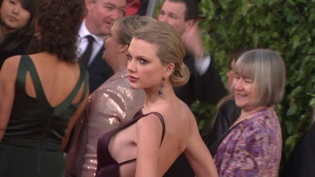 taylor swift at 70th annual golden globe awards - arrivals on 1/13/13 in los angeles, ca . - golden globe awards stock videos & royalty-free footage