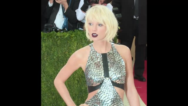 taylor swift at manus x machina fashion in an age of technology costume institute benefit gala arrivals at metropolitan museum of art - manus x machina: fashion in an age of technology stock videos and b-roll footage