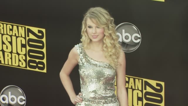 taylor swift at the 2008 american music awards at los angeles ca - american music awards stock videos & royalty-free footage