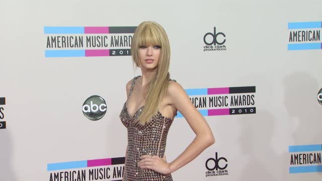 Taylor Swift at the 2010 American Music Awards Arrivals at Los Angeles CA