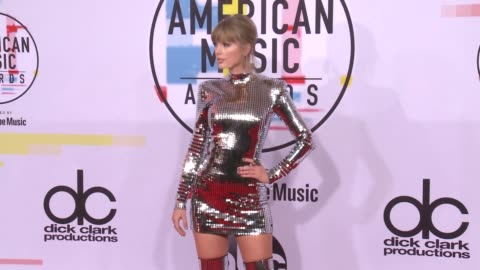 taylor swift at the 2018 american music awards at microsoft theater on october 09, 2018 in los angeles, california. - american music awards stock videos & royalty-free footage