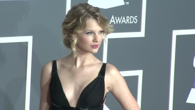 taylor swift at the 51st annual grammy awards part 4 at los angeles ca. - 2009年点の映像素材/bロール