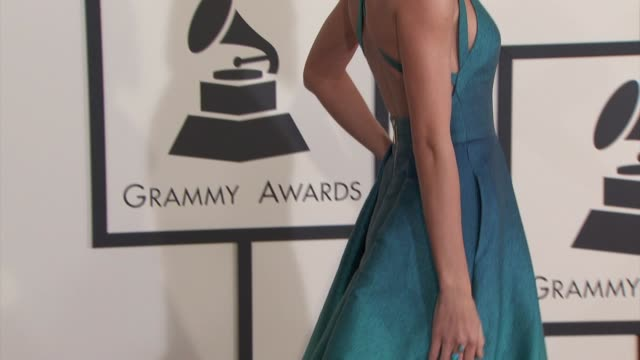 taylor swift at the 57th annual grammy awards - red carpet at staples center on february 08, 2015 in los angeles, california. - 2015 stock videos & royalty-free footage