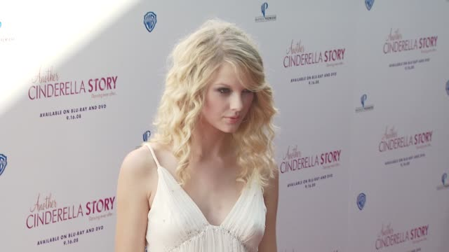 d12 taylor swift at the the premiere of warner premiere's another cinderella story at los angeles ca - cinderella stock videos & royalty-free footage