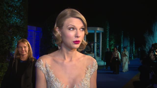 interview taylor swift on being at the event being in london at winter whites gala the duke of cambridge hosts at kensington palace on november 26... - media interview stock videos & royalty-free footage