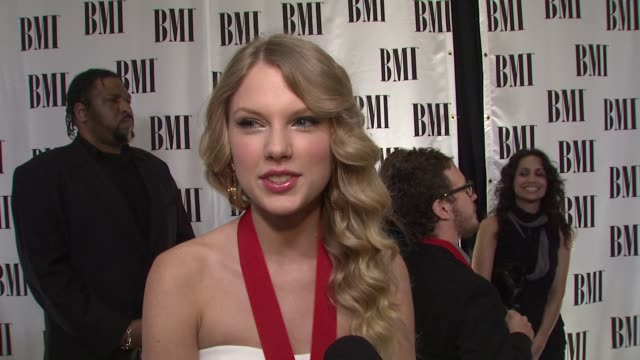Taylor Swift on being honored BMI the song her tour the Dateline special her successful life at the BMI's 57th Annual Pop Awards at Beverly Hills CA