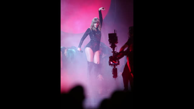 Taylor Swift performs onstage during the 2018 American Music Awards at Microsoft Theater on October 09 2018 in Los Angeles California