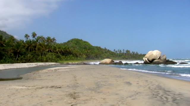 hd: tayrona beach - tayrona national park stock videos and b-roll footage