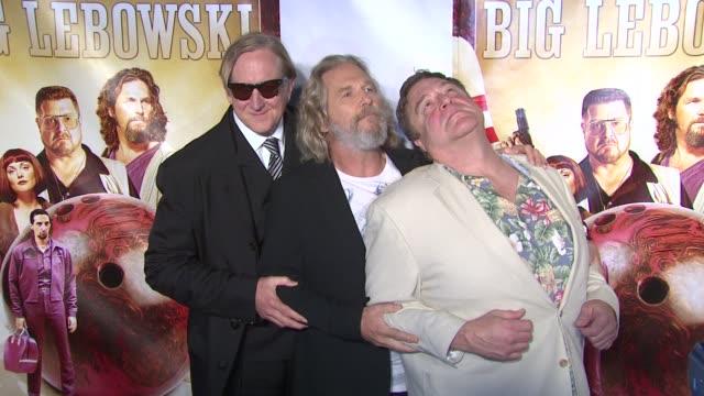 TBone Burnett Jeff Bridges and John Goodman at the 'The Big Lebowski' BluRay Release at New York NY
