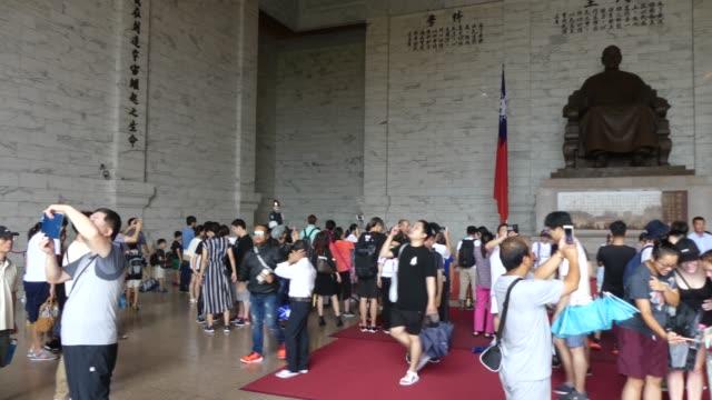 vidéos et rushes de tchang kaichek memorial in taiwan - tchang kai shek