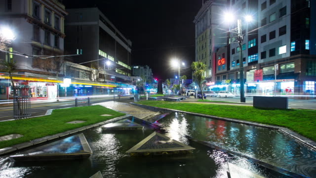 te aro at night - time lapse - new zealand stock videos & royalty-free footage