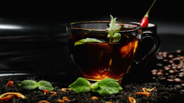 tea and coffee with mint and chili - mint leaf culinary stock videos and b-roll footage