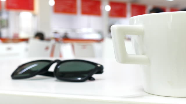 tea cap in a cafe - lid stock videos and b-roll footage