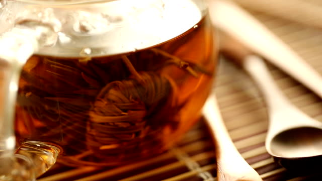 tea. collage. - chinese tea set stock videos and b-roll footage