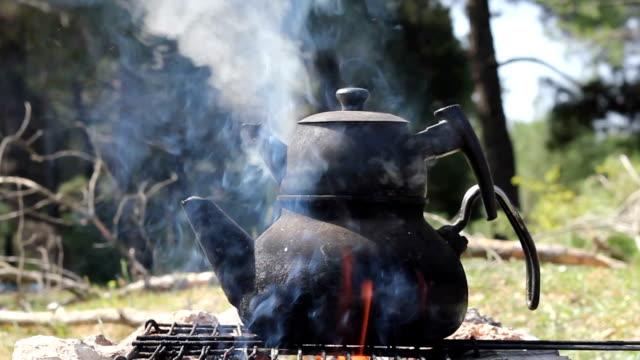 tea kettle - tea kettle stock videos & royalty-free footage