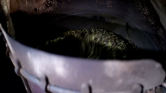 tea leaves in process in the workshop - drying stock videos & royalty-free footage