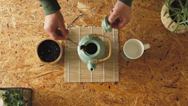 tea making ritual - teapot stock videos & royalty-free footage