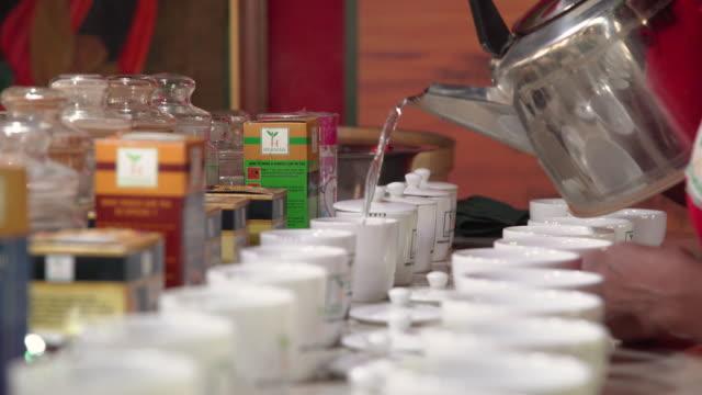 tea tasting at sri lanka tea plantation - spice stock videos & royalty-free footage