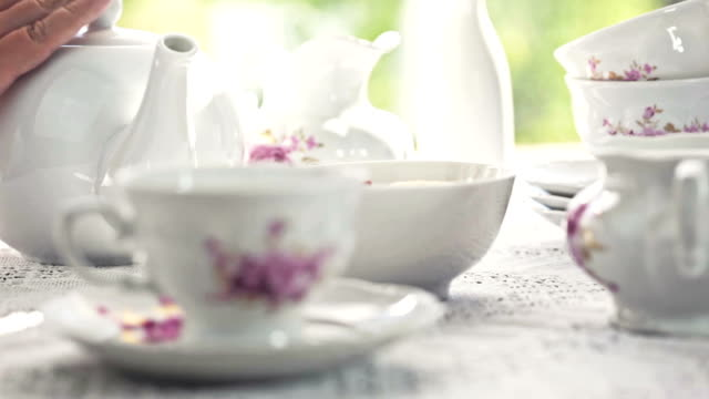 tea time - english culture stock videos & royalty-free footage