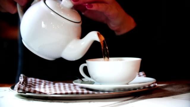 tea time. - silver platter stock videos and b-roll footage
