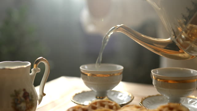 tea time - tea ceremony stock videos and b-roll footage