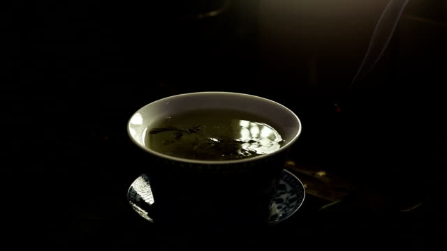 tea - chinese tea cup stock videos and b-roll footage