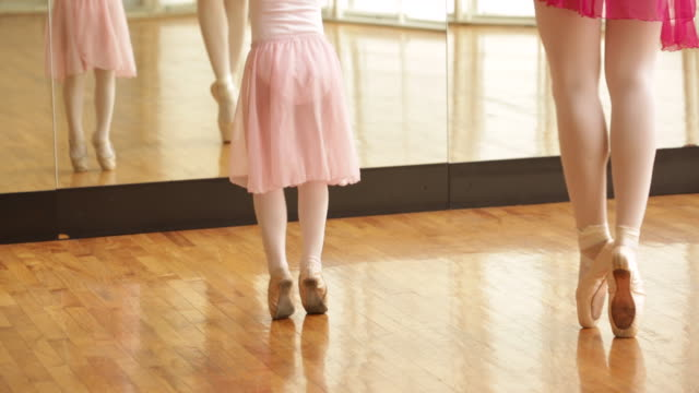 cu  teacher and student during dance class. - ballet dancing stock videos & royalty-free footage