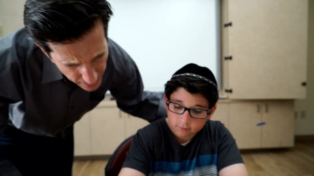 teacher and yeshiva student - judaism stock videos & royalty-free footage