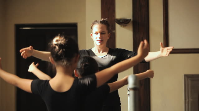 MS Teacher training students (4-7) during ballet class / Chicago, Illinois, USA