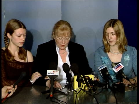 teaching assistant killed by hit and run driver west midlands police hq widow jane evans and daughters sit at press conference jane evans press... - widow stock videos and b-roll footage