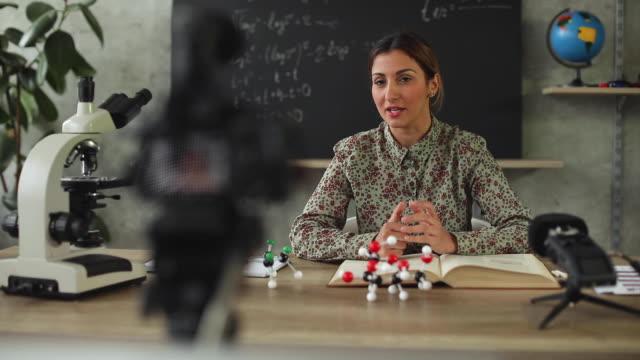 teaching from home during coronavirus lockdown - filming stock videos & royalty-free footage