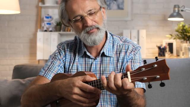 vídeos de stock, filmes e b-roll de ensinando online - ukulele