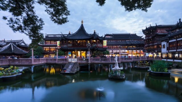 TL Teahouse in Yu Garden day to night