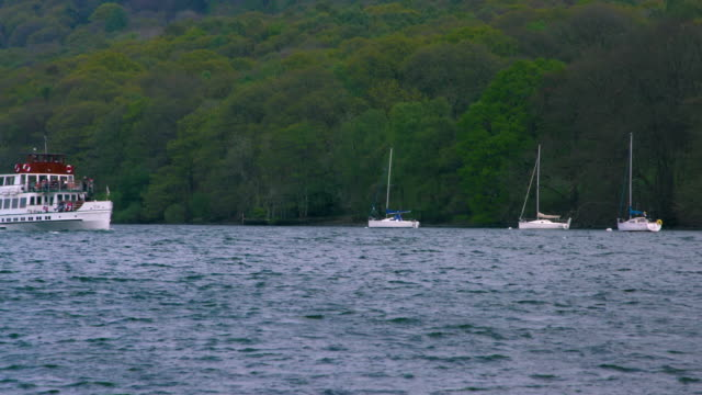 teal passenger ferry lake windermere, cumbria, england - teal stock videos & royalty-free footage