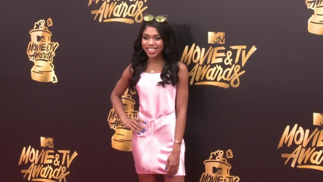 teala dunn at the 2017 mtv movie tv awards red carpet arrivals on may 07 2017 in los angeles california - mtv movie & tv awards stock videos & royalty-free footage