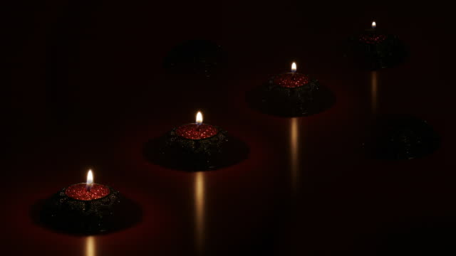 tealights forming a cross shape - candle stock videos & royalty-free footage