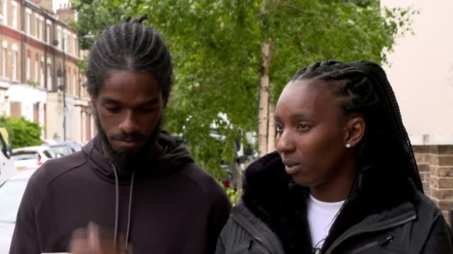 team gb athlete accuses police of racial profiling after vehicle stopped by met police; england: ext bianca williams and ricardo dos santos set-up... - nationalmannschaft stock-videos und b-roll-filmmaterial