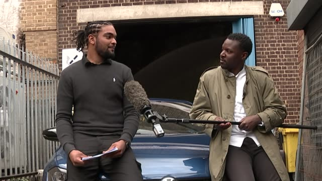 team gb athlete accuses police of racial profiling after vehicle stopped by met police england london ext hakeem saunders interview sot - politics stock-videos und b-roll-filmmaterial