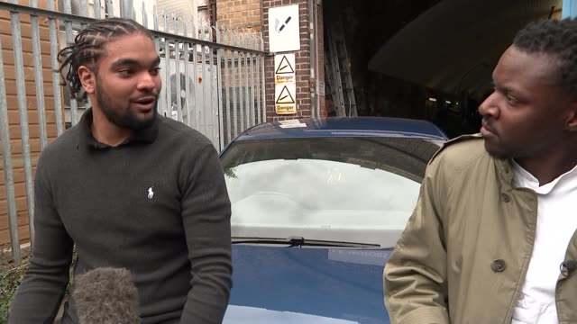 team gb athlete accuses police of racial profiling after vehicle stopped by met police england london hakeem saunders' reflection in rear view mirror... - politics stock-videos und b-roll-filmmaterial