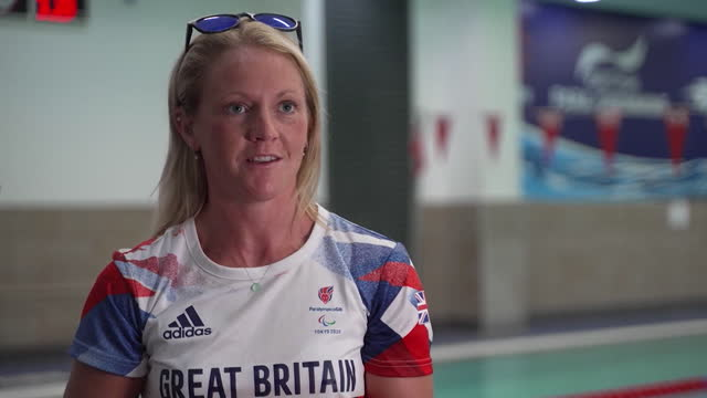 team gb paralympian suzanna hext describing the life-changing injuries she suffered after a horse riding accident - moving down stock videos & royalty-free footage