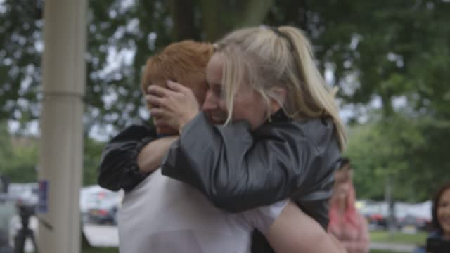 team gb swimmer and olympic champion tom dean hugs his family as he returns to the uk after winning two gold medals in the pool at tokyo 2020. the... - family stock videos & royalty-free footage